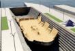 Render 3D del Dique de Gamazo (Santander) convertido en park para el Red Bull Shipyard