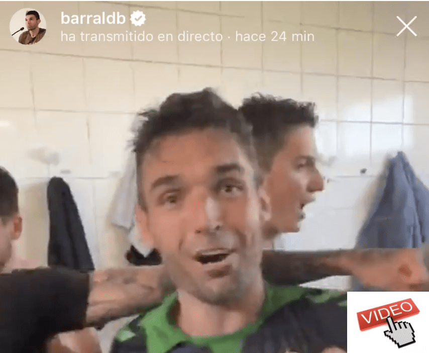 VIDEO ASI SE CELEBRO EL ASCENSO DEL RACING EN EL VESTUARIO - DAVID BARRAL