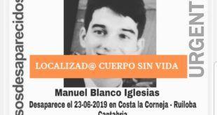 El ADN confirma que el cuerpo aparecido era de Manuel Blanco