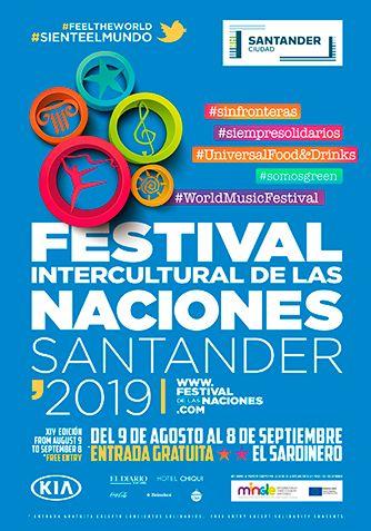 Cartel Festival de las Naciones de Santander 2019