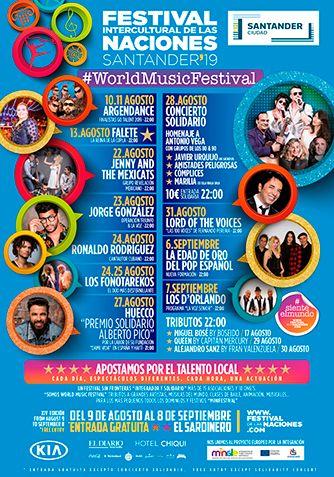 Conciertos Festival de las Naciones de Santander 2019