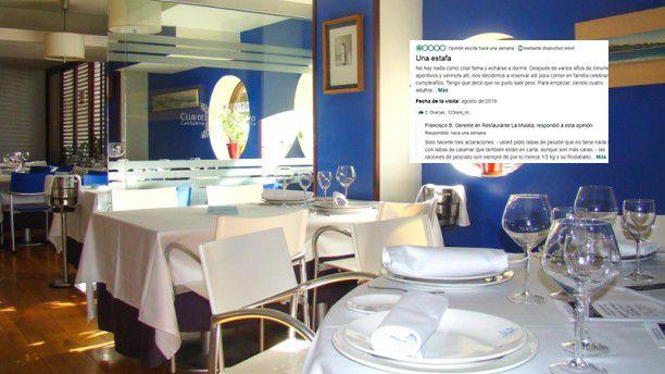 La respuesta de un restaurante de Santander a una crítica en TripAdvisor