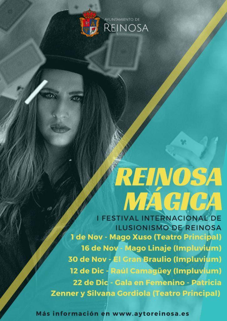 Cartel Reinosa Mágica - I Festival Internacional de Ilusionismo de Reinosa