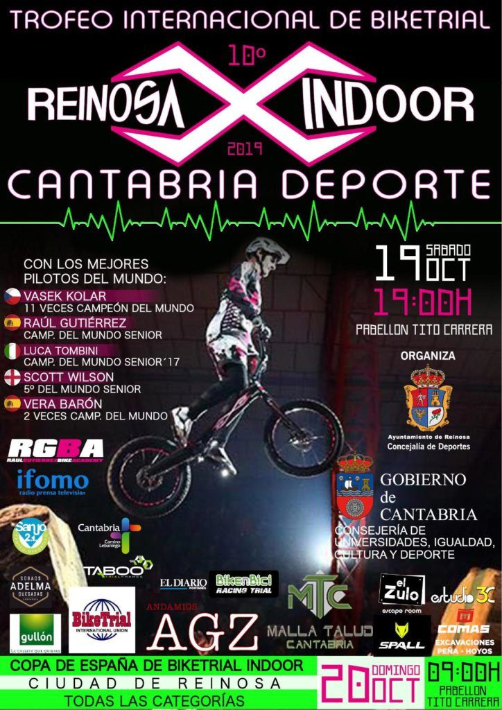Cartel Reinosa X indoor 2019