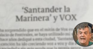 EL ZASCA DE CHEMA PUENTE A VOX POR EL USO DE SANTANDER LA MARINA PORTADA