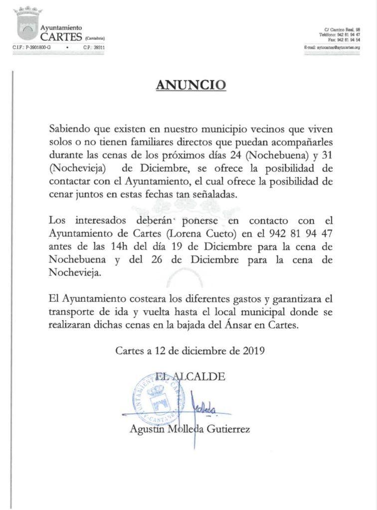 La genial iniciativa navideña del Ayuntamiento de Cartes (Cantabria)