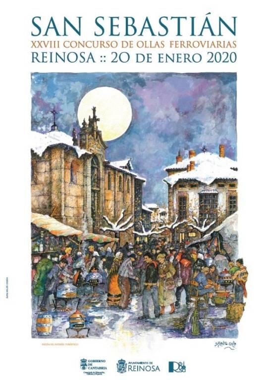 Cartel fiestas de San Sebastián de Reinosa 2020