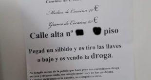 LA ORIGINAL DENUNCIA DE LOS VECINOS DE LA CALLE ALTA DE SANTANDER POR LA VENTA DE DROGA