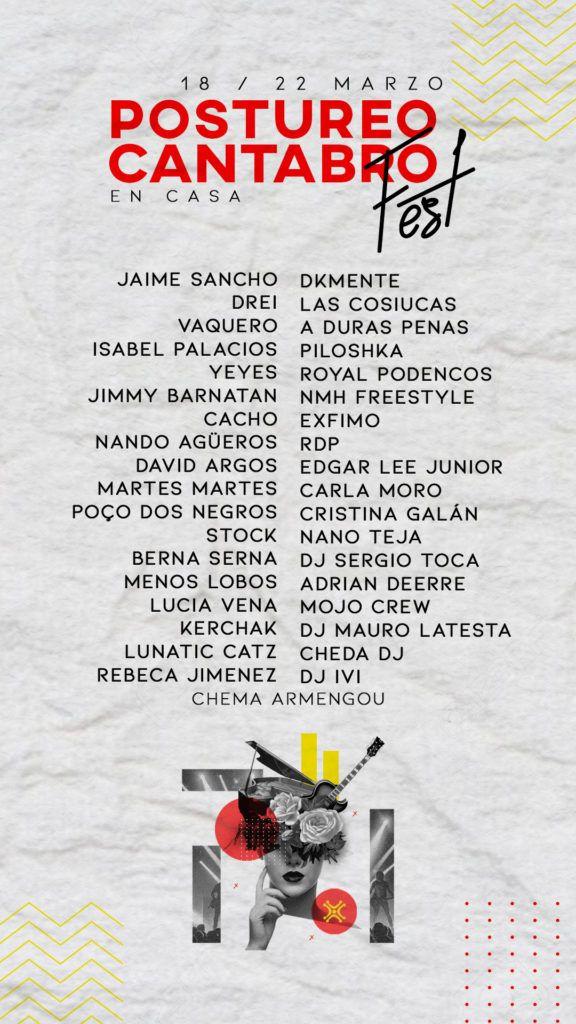 ARTISTAS - Postureo Cantabro Fest en Casa