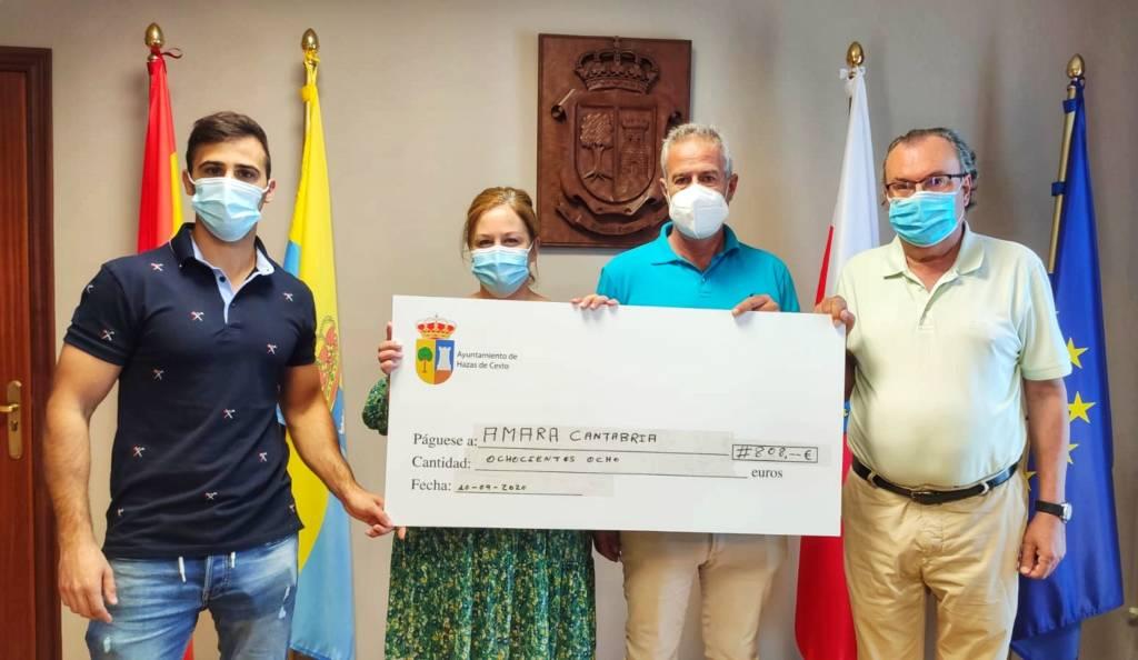 Hazas de Cesto recauda 808 euro en beneficio de la asociación Amara Cantabria