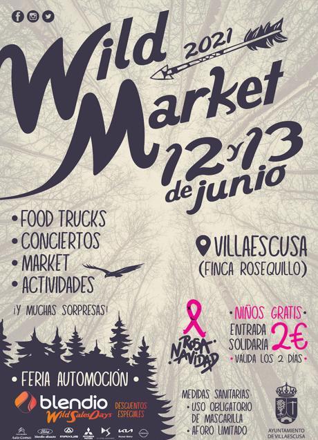 Cartel WildMarket 12 y 13 Junio 2021 en Villaescusa Cantabria