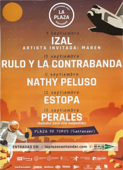 CARTEL FESTIVAL LA PLAZA SANTANDER 2021