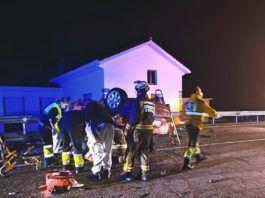 Cuatro heridos con pronóstico reservado en un accidente en Santa María de Cayón